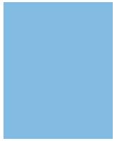 Haus-Icon mittelblau