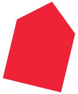 Haus-Icon Umzug in Rot.